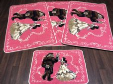 ROMANY GYPSYS WASHABLES NEW 2018 DESIGNS SET OF 4 MATS PINK/BEIGE/CREAM NON SLIP
